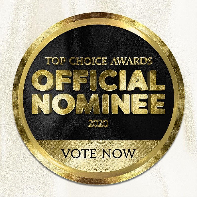 Top Choice Awards Official Nominee 2020 Vote Now Badge